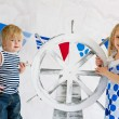 Adorable small mariners - Stock Photo