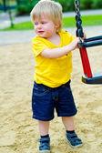 Ana criança no playground — Foto Stock