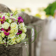 Wedding white and pink bouquet — Stock Photo