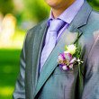 Groom's buttonhole — Stock Photo