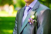 Groom's buttonhole — Stock Photo