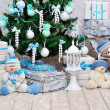 Christmas room decoration — Stock Photo