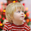 Adorable boy Christmas portrait — Stock Photo