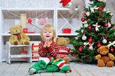 Happy kid and Christmas mood — Stock Photo