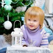 Stock Photo: Cheerful kid and Christmas mood