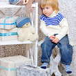 Toddler dreaming about Christmas — Stock Photo #35751661