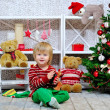 Happy kid and Christmas mood — Stock Photo