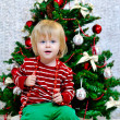 Little boy preparing for Christmas holidays — Stock Photo #36601831