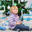 Cheerful kid and Christmas mood — Stock Photo