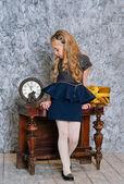 Beautiful girl in elegant dress — Stock Photo