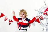 Positive fashion kid as a sailor — Stock fotografie