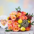 Still life with wedding flower bouquet — Stock Photo