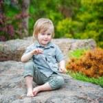 Little boy in the garden — Stock Photo #46979091