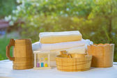 Sauna accessories — Stock Photo