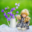 Bouquet and doll — Stock Photo #50407271