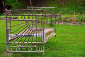 Old metallic bed — Stock Photo
