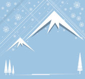 Christmas and happy new year background with mountain — Stockvektor