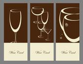 Uppsättning av vin banner alkohol dryck glasögon — Stockvektor