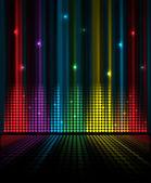 Música abstracta volumen ecualizador concepto idea fondo — Vector de stock