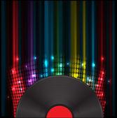 Vinil disk music volume equalizer concept idea background — Stock Vector