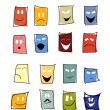 Expressions mimic set of mask — Stock Vector #13764264