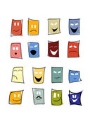 Expressions mimic set of mask — Stock Vector