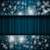 Christmas and new year night background — Stock Vector
