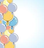 Lśniące balony kolor streszczenie tło — Wektor stockowy