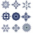 Royalty-Free Stock Vectorafbeeldingen: Set of blue snowflakes icon collection