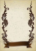 Vintage background with ribbon — Stock vektor