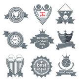 Set of vintage and modern sport elements labels for sale — Stock Vector