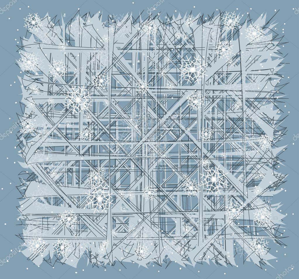 Fen tre de verre gel hiver fond image vectorielle 14756709 for Fenetre hiver