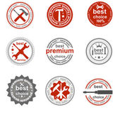 Set of vintage and modern repair tools labels for sale — Stock Vector