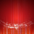 Stock Vector: Abstract red technology dynamic fade background