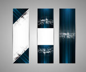 Abstract new technology dynamic fade banner background — Stock Vector