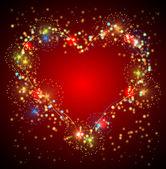 Heart salute valentine background — Stock Vector