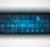 Abstracte futuristische grijze lijn technologie bedrijf banner backgro — Stockvector