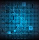 抽象的未来派轻线技术业务背景 — 图库矢量图片