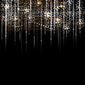 Disco light rain stars abstract dance background — Stock Vector