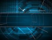 Ordinateur bleu abstrait technologie affaires bannière fond — Vecteur