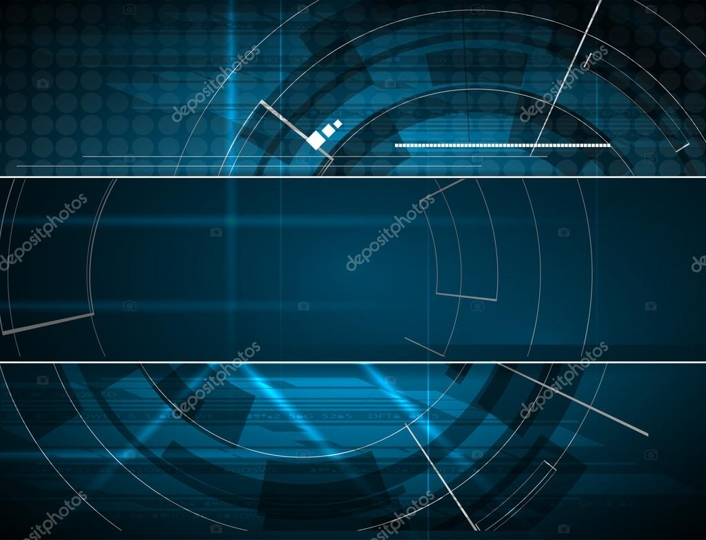 Technology Management Image: Abstract Blue Technology Background