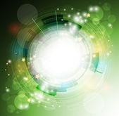 Abstract eco green computer technology business banner backgroun — Stock Vector