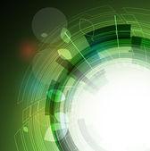 Streszczenie eko zielony komputera technologia firmy tło — Wektor stockowy