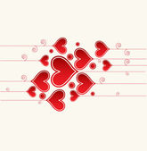 Love background with hearts valentine day card — Stock Vector