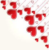 Liefde achtergrond met harten valentine dag kaart — Stockvector