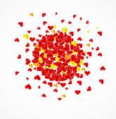 Adore le fond avec la carte de jour de valentine coeurs — Vecteur