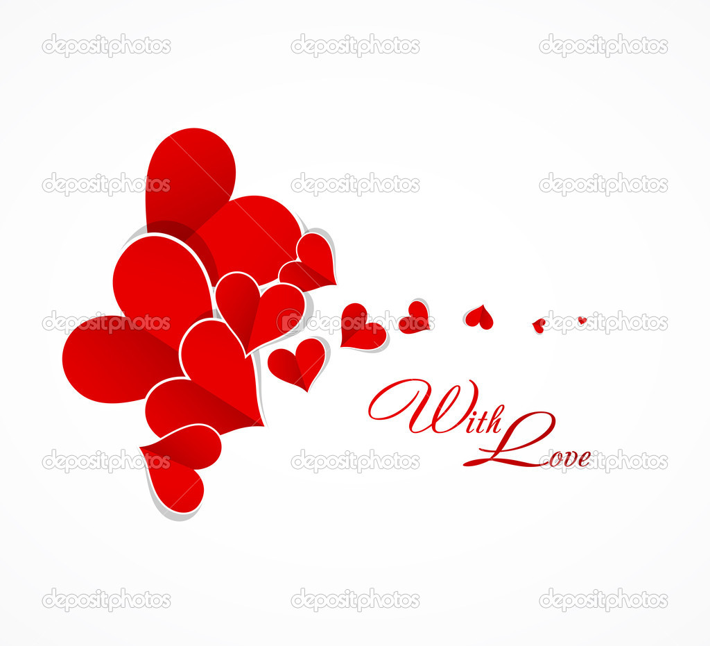 Depositphotos  Happy Valentine Day Background With Love Hearts Card