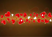 Abstract Love banner with hearts valentine day — Stock Vector