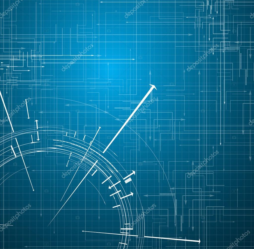 Blue Technology: Abstract Blue Technology Circuit Background Vector