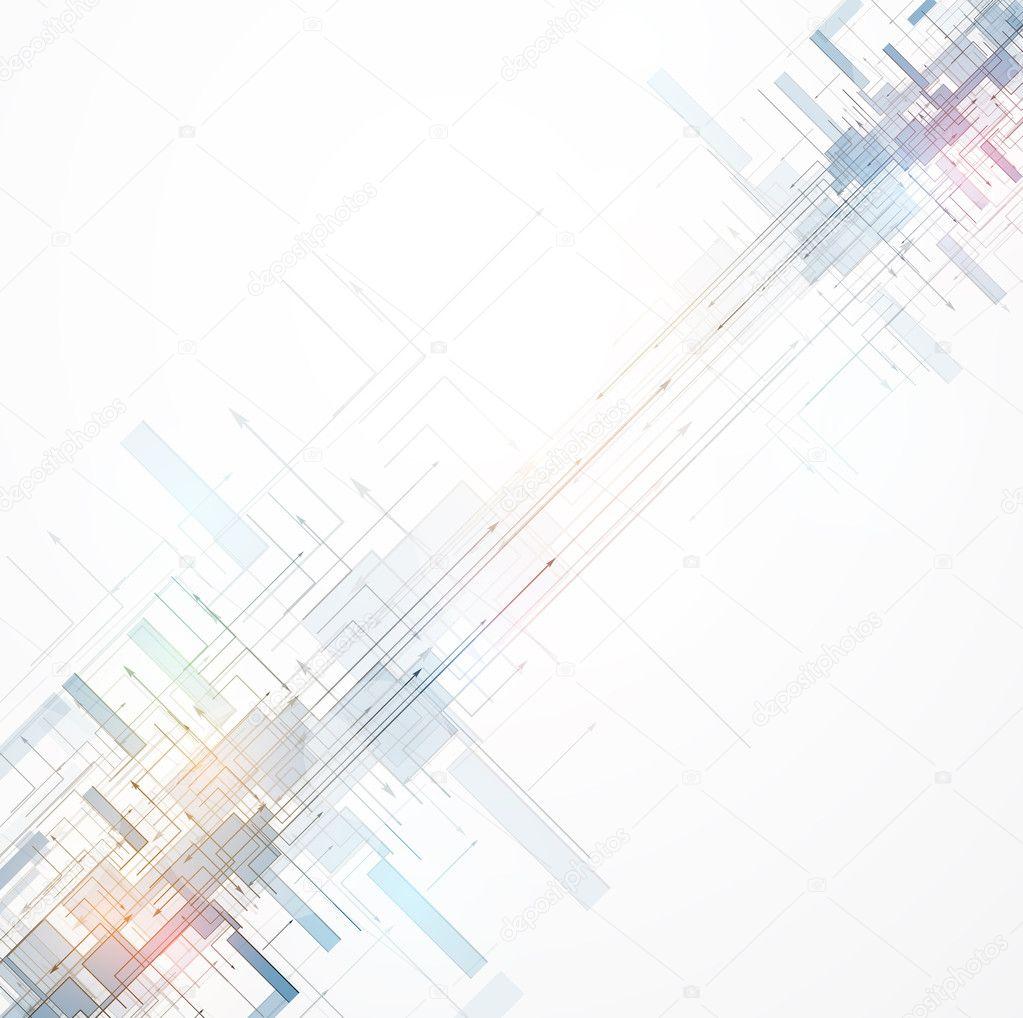 抽象色彩空间电路网络高科技商务背景– 图库插图